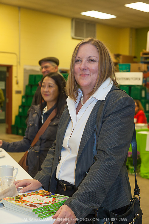 """Stuart Coles' grandaughter at the launch party of """"share"""", FoodShare's 1st cookbook. Nov. 14, 2012"""