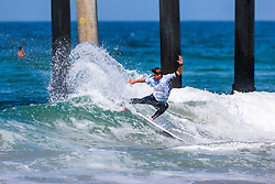 Gony Zubizarreta (ESP) is eliminated from the 2018 VANS US Open of Surfing after placing fourth in Heat 14 of Round 2 at Huntington Beach, California, USA.