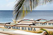 Boats sit on the beach at North Shore.