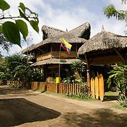 The Balsa Surf Camp hotel, just off the beach in Montañita, Ecuador.