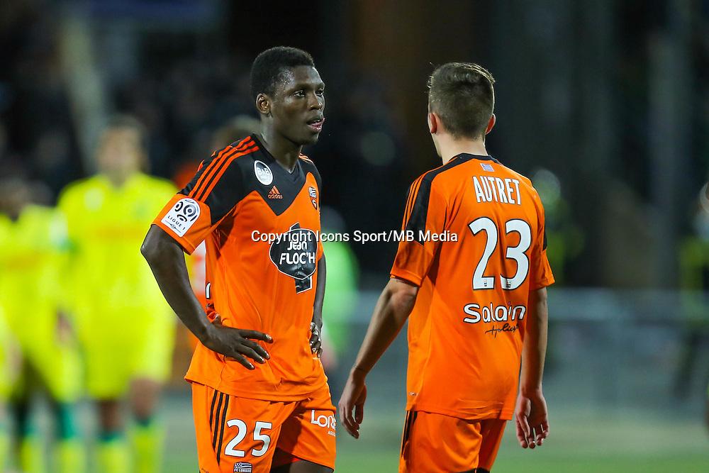 Deception Lamine GASSAMA  - 20.12.2014 - Lorient / Nantes - 19eme journee de Ligue 1 -<br /> Photo : Vincent Michel / Icon Sport