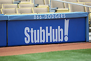 LOS ANGELES - MAY 03:  A ticket announcement appears on a display at the Los Angeles Dodgers game against the San Diego Padres at Dodger Stadium on Sunday, May 3, 2009 in Los Angeles, California.  The Dodgers won their 10th straight home game while defeating the Padres 7-3.  (Photo by Paul Spinelli/MLB Photos)