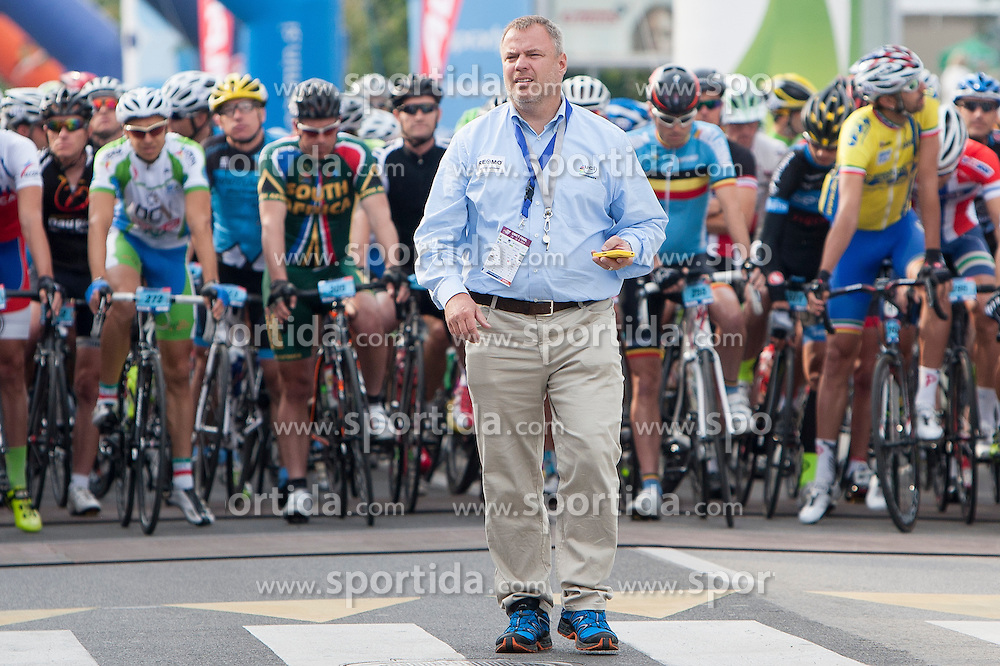Offical referee during UCI amateur Road World Championship 2014 on August 31, 2014 in BTC City, Ljubljana, Slovenia. Photo by Urban Urbanc / Sportida.com