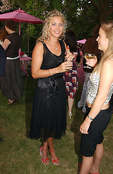 HOLLY BRANSON at the Serpentine Gallery Summer party sponsored by Yves Saint Laurent held at the Serpentine Gallery, Kensington Gardens, London W2 on 11th July 2006.<br />