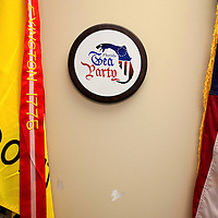 ORLANDO, FL -- October 21, 2010 -- A seal hangs on the wall at the Florida Tea Party offices in Orlando, Fla., on Thursday, October 21, 2010.