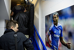 Ashley Cole of Chelsea at poster at media tribune 1 day before UEFA Champions League 2014/15 Match between FC Chelsea and NK Maribor, SLO, on October 20, 2014 in Stamford Bridge Stadium, London, Great Britain. Photo by Vid Ponikvar / Sportida.com
