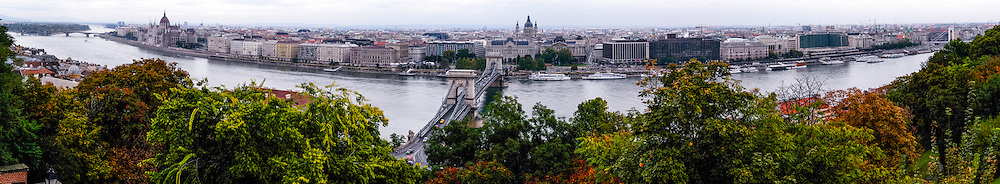 Budapest, Hungary.  Panorama from Castle Hill.