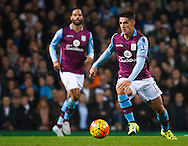 Ashley Westwood of Aston Villa on the ball during the Barclays Premier League match at White Hart Lane, London<br /> Picture by Jack Megaw/Focus Images Ltd +44 7481 764811<br /> 02/11/2015