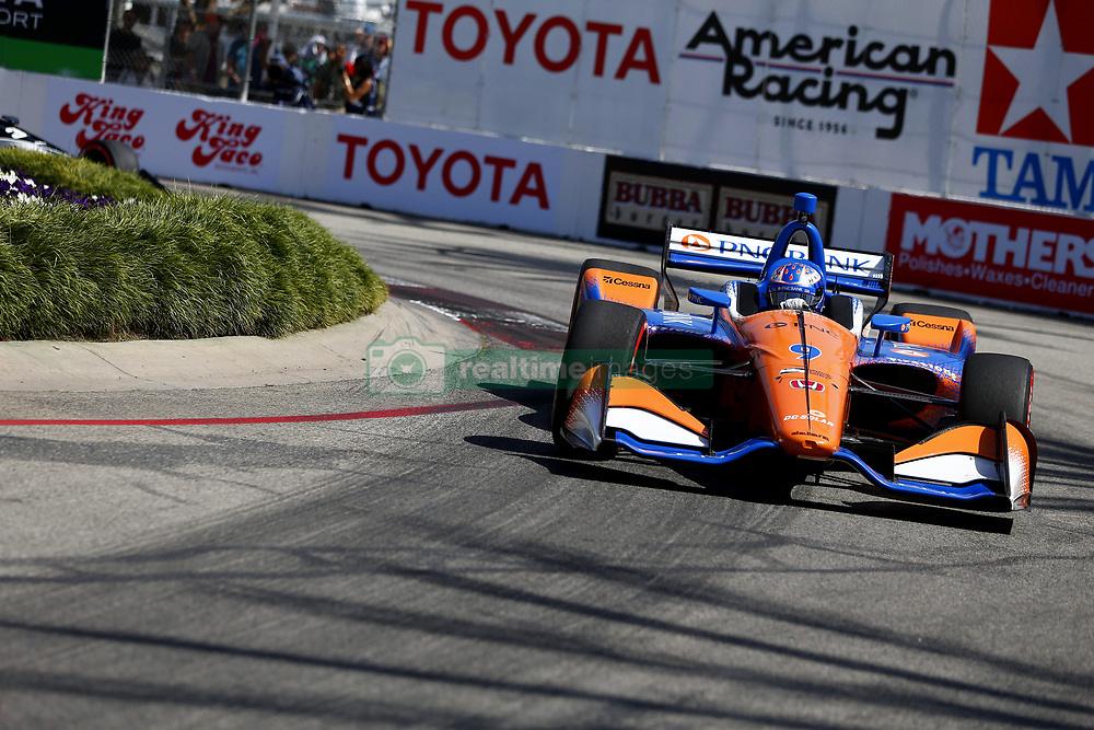 April 13, 2018 - Long Beach, California, United States of America - April 13, 2018 - Long Beach, California, USA: Scott Dixon (9) takes to the track to practice for the Toyota Grand Prix of Long Beach at Streets of Long Beach in Long Beach, California. (Credit Image: © Justin R. Noe Asp Inc/ASP via ZUMA Wire)
