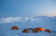 Ski Touring and Camping in the Chugach Mountains near Cordova, Alaska.<br /> <br /> Photo by David Stubbs &copy; 2012
