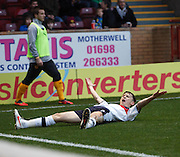Dundee's Nicky Riley  celebrates after scoring - Motherwell v Dundee at Fir Park in the Clydesdale Bank Scottish Premier League.. - © David Young - www.davidyoungphoto.co.uk - email: davidyoungphoto@gmail.com
