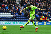 Huddersfield Midfielder Jamie Patterson strikes  during the Sky Bet Championship match between Preston North End and Huddersfield Town at Deepdale, Preston, England on 6 February 2016. Photo by Pete Burns.