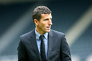 Watford manager Javi Garcia walks the playing surface ahead of the Premier League match between Newcastle United and Watford at St. James's Park, Newcastle, England on 3 November 2018.