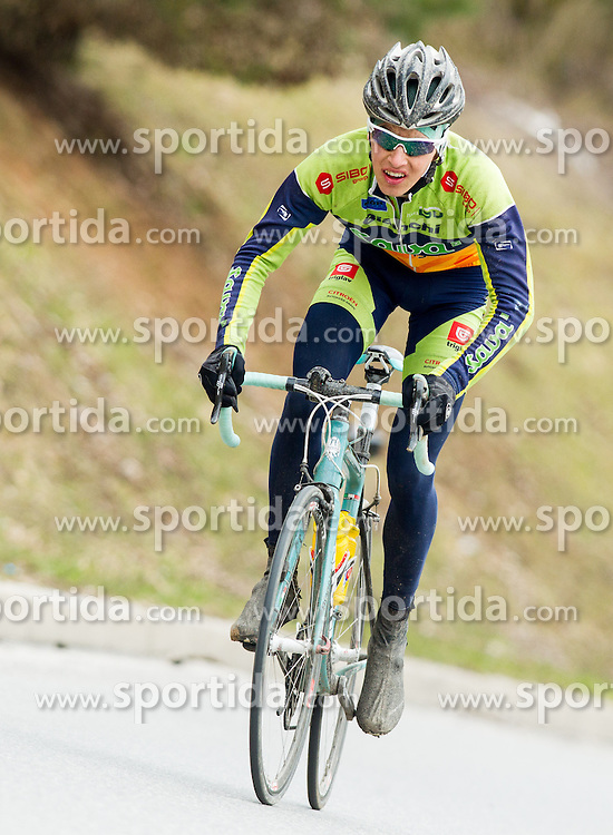 Matej Razingar of Sava Kranj during cycling race 15th Grand Prix Sencur of Tchibo Top Rad Liga 2013 on April 7, 2013 in Sencur, Slovenia.  (Photo By Vid Ponikvar / Sportida)