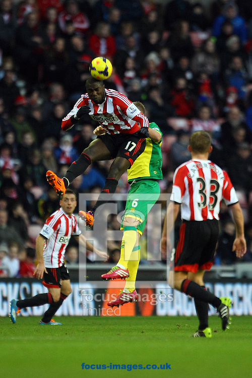 Picture by Paul Chesterton/Focus Images Ltd +44 7904 640267<br /> 21/12/2013<br /> Sunderland's Jozy Altidore wins a header in action during the Barclays Premier League match at the Stadium Of Light, Sunderland.