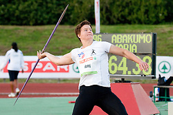 Martina Ratej of Slovenia during the women's javelin at athletics meeting Ljubljana Grand Prix 2010 for 5th Memorial Matic Sustersic and Patrik Cvetan on August 29, 2010, in Ljubljana, Slovenia. (Photo by Matic Klansek Velej / Sportida)