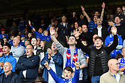 Oldham Athletic fans during the EFL Sky Bet League 2 match between Grimsby Town FC and Oldham Athletic at Blundell Park, Grimsby, United Kingdom on 15 September 2018.