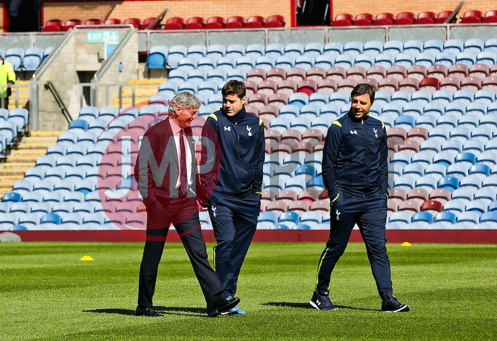 Tottenham Hotspur Manager Mauricio Pochettino and Technical Director, Franco Baldini take a walk on the pitch before the game - Photo mandatory by-line: Matt McNulty/JMP - Mobile: 07966 386802 - 05/04/2015 - SPORT - Football - Burnley - Turf Moor - Burnley v Tottenham Hotspur - Barclays Premier League