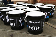 Mens united sponsoring todays game during the EFL Sky Bet League 1 match between AFC Wimbledon and Oxford United at the Cherry Red Records Stadium, Kingston, England on 10 March 2018. Picture by Matthew Redman.
