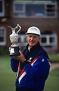 Bob Charles <br /> Seniors Open 1993 with trophy<br /> Picture Credit:  Mark Newcombe / www.visionsingolf.com