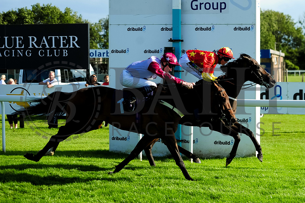 A Place To Dream ridden by Daniel Muscutt and trained by Mike Murphy in the Aston Manor Maiden Stakes (Class 4) race. Grisons ridden by William Cox and trained by Clive Cox in the Aston Manor Maiden Stakes (Class 4) race.  - Ryan Hiscott/JMP - 17/08/2019 - PR - Bath Racecourse - Bath, England - Race Meeting at Bath Racecourse