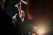 Republican presidential candidate Gov. Chris Christie, R-N.J., greets people upon arrival at a town hall meeting at Millennium Running HQ in Bedford, New Hampshire Saturday, Feb. 6, 2016.  CREDIT: Cheryl Senter for The New York Times
