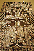 Khatchkar (Stone Cross) Besalt.  Province of Lori, Republic of Armenia. The Armenians, who recognised Christianity as their state religion at the beginning of the 4th century, have long maintained an independent Christian tradition.