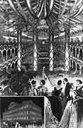 Inauguration reception for President Benjamin Harrison 1889 Washington DC