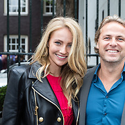 NLD/Amsterdam/20150602 - Talkies Terras award 2016, John Ewbank en partner Kelly Weekers