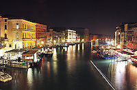 Night photography in Venice, Italy