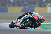#20 Fabio Quatararo, French: Petronas Yamaha SRT during racing on the Bugatti Circuit at Le Mans, Le Mans, France on 19 May 2019.