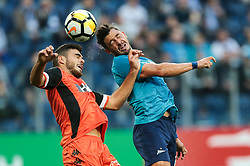 August 3, 2017 - Saint Petersburg, Russia - Paz Ben Ari (L) of FC Bnei Yehuda and Giuliano of FC Zenit Saint Petersburg vie for the ball during the UEFA Europa League match, Third Qualifying Round, 2nd Leg between FC Zenit St. Petersburg and FC Bnei Yehuda at Saint Petersburg Stadium on August 03, 2017 in St. Petersburg, Russia. (Credit Image: © Igor Russak/NurPhoto via ZUMA Press)