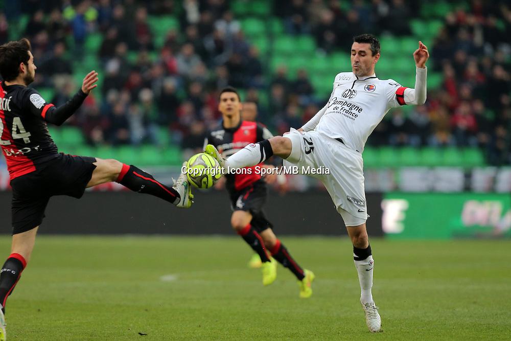 Julien FERET / Sanjin PRCIC  - 25.01.2015 - Rennes / Caen  - 22eme journee de Ligue1<br /> Photo : Vincent Michel / Icon Sport *** Local Caption ***