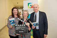 02/07/2013 repro free Lights, camera, action for Galway as the city of the Tribes announces its bid to join UNESCO's Creative Cities network as a City of Film! With the audiovisual sector in the West of Ireland having a direct contribution of €72 million to the region in 2012 and only two other designated cities of film in the world, it signals the significance of the bid on both a national and international scale. Kate O 'Toole, Member of IFB Lelia Doolan, Picture Palace and  James Hickey, CEO of IFB,  were at the annoucement. Picture:Andrew Downes