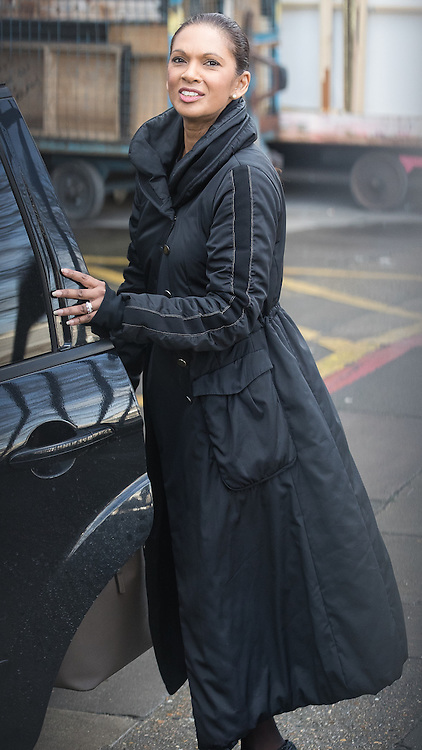 © Licensed to London News Pictures . 05/03/2017 . London , UK . GINA MILLER leaves ITV studios on South Bank after appearing on the Peston on Sunday show . Photo credit: Joel Goodman/LNP