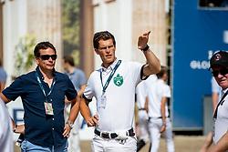 HASSMANN Toni (GER), LAHDE Harm (GER)<br /> Berlin - Global Jumping Berlin 2018<br /> Parcoursbesichtigung<br /> 2. Wertung für Global Champions League<br /> 28. Juli 2018<br /> © www.sportfotos-lafrentz.de/Stefan Lafrentz
