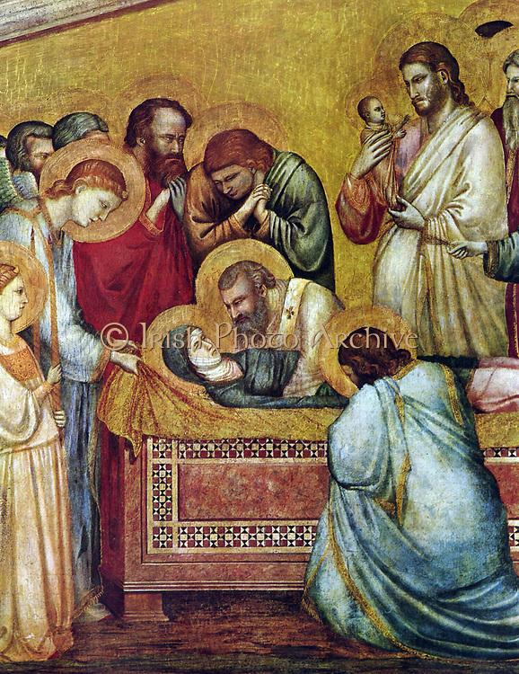 Giotto di Bondone 1315-1320 death of Mary