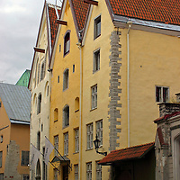 Europe, Estonia,Tallinn. The Three Sisters hotel in Tallinn.