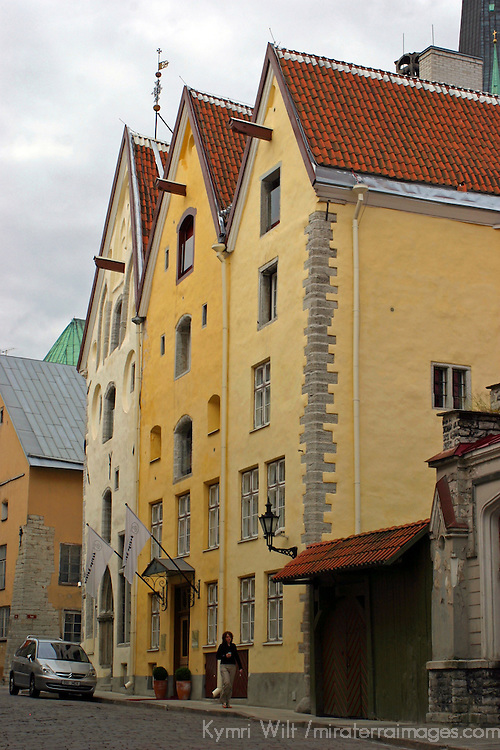 Europe, Estonia,Tallinn. The Three Sisters hotel in Tallinn.