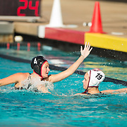 13 March 2016: The San Diego State Aztecs women's waterpolo team took on #17 Indiana Sunday morning at the Aquaplex and lost 9-6.<br /> www.sdsuaztecphotos.com