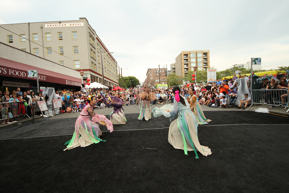 Seattle's Chinatown-ID Dragon Fest 2012.  Korean Dancing (Morning Star Korean Cultural Center).