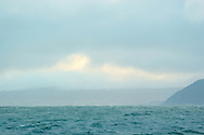 Looking north towards Loch Torridon from the deck of the boat My Amber, as she fishes for prawns off Scotland's west coast in a marine 'box' in the inner sound of Rona which restricts entry to large trawlers looking for white fish and allows around 16 creelers unrestricted fishing..
