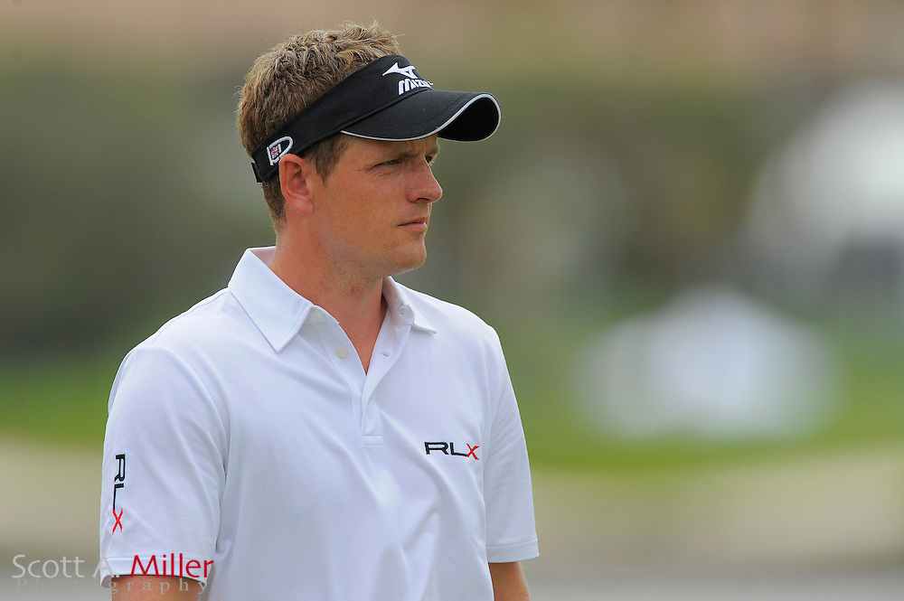 Luke Donald during the first round of the World Golf Championship Cadillac Championship on the TPC Blue Monster Course at Doral Golf Resort And Spa on March 8, 2012 in Doral, Fla. ..©2012 Scott A. Miller.