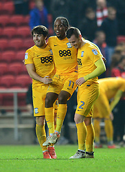 Daniel Johnson of Preston North End celebrates with team mates at the end of the game - Mandatory by-line: Dougie Allward/JMP - 17/12/2016 - FOOTBALL - Ashton Gate - Bristol, England - Bristol City v Preston North End - Sky Bet Championship
