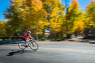 Road biking in the fall in Aspen, Colorado.