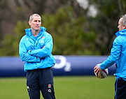 Bagshot, Great Britain England coach, Stuart LANCASTER during the England Rugby Training, in preparation for the England vs Ireland, Six Nations Match. Thursday   20/02/2014  [Mandatory Credit Peter SPURRIER/Intersport Images.