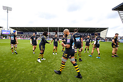 Wasps take to the field at The AJ Bell Stadium - Mandatory by-line: Robbie Stephenson/JMP - 05/10/2019 - RUGBY - AJ Bell Stadium - Manchester, England - Sale Sharks v Wasps - Premiership Rugby Cup