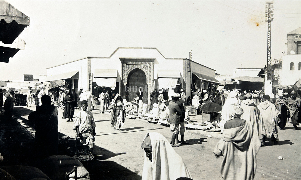 1930s Morocco city of Rabat casual daily street scene