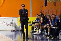 Rade Mijanovic, head coach of KK Sencur during basketball match between KK Helios Suns and KK Sencur in Playoffs of Liga Nova KBM 2017/18, on April 7, 2018 in Domzale, Slovenia. Photo by Urban Urbanc / Sportida