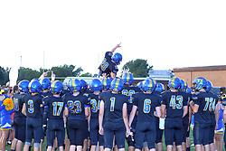 25 August 2017: Decatur St. Teresa Bulldogs at Tri Valley Vikings. IHSA football, Normal Illinois<br /> <br />  #alphoto513 #IHSA #IHSAFootball  #HOIConference  #footballTVHS